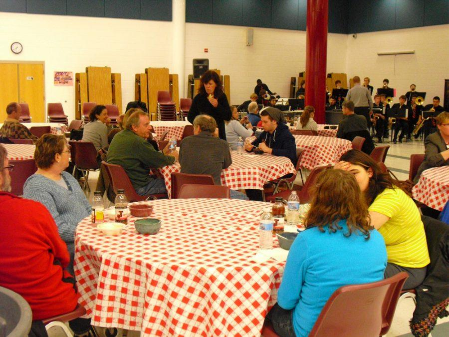 Parents and Staff at Empty Bowls Night -- Photo by Nicholas Cropper