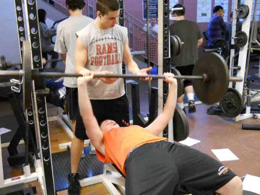 Weight Training is one of the PE classes offered at RHS -- photo by Alisa Bargeski