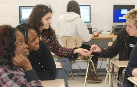 Ram Idol contestants meets during lunch to discuss show night -- Emma Hankins