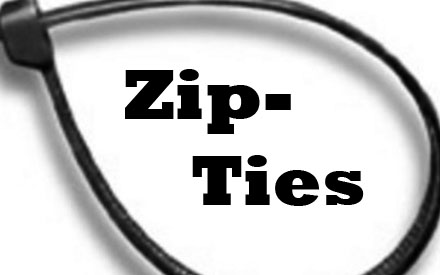 Zipties have become a large problem in schools due to their versatile nature and have been used in a variety of pranks. --Graphic by Robert Lee