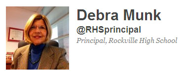 Principal Dr. Munk Uses Twitter Account to Highlight School Achievements
