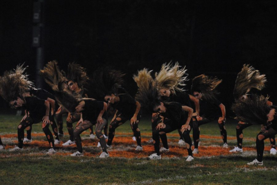 Poms%2C+dressed+as+zombies%2C+preform+their+special+Halloween+routine+during+hal-time+at+the+RHS+vs+SVHS+football+game+Oct.+5+which+Rockville+lost+40-21.+--Adam+Bensimhon