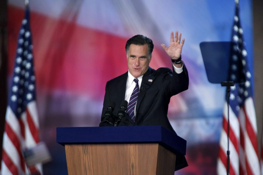 Republican+presidential+candidate+Mitt+Romney+waves+to+supporters+at+the+Boston+Convention+Center+in+Boston%2C+Massachusetts%2C+after+Romney+loses+the+election+to+incumbent+Barack+Obama+on+Tuesday%2C+November+6%2C+2012.+%28Carolyn+Cole%2FLos+Angeles+Times%2FMCT%29+--Courtesy+of+MCT+Campus