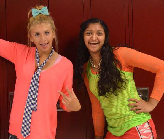 Juniors Nancy Cedillo, Korbyn -- and Lisa DiSouzo all pose in their wacky attire.