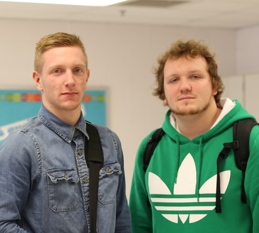 Valentin (left) and Florian Milloch (right) moved to Rockville from Brittany, France. --Xavier Rivera