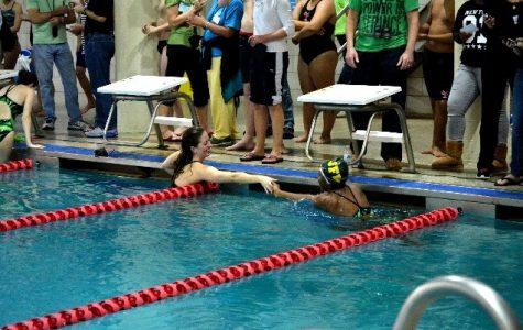 Swim And Dive Team Meet Against JFK