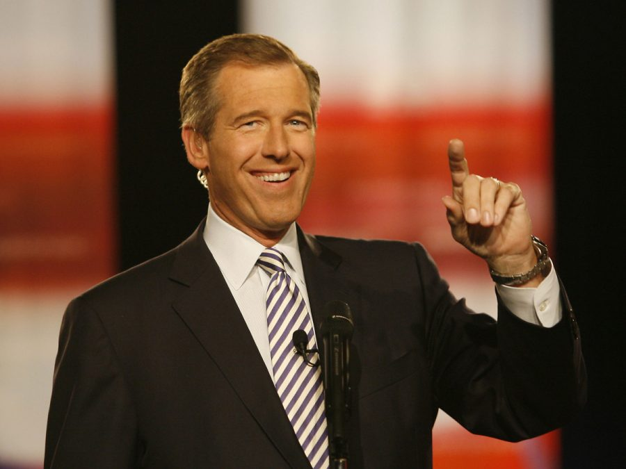 NBC's Brian Williams hosts the Democratic Presidential debate at Drexel University on Oct. 30, 2007 in Philadelphia, Pa. Williams said he is temporarily stepping away from the NBC Nightly News amid questions about his memories of war coverage in Iraq, calling it 'painfully apparent' that he has become a distracting news story. NBC News President said Friday that an internal investigation had been launched after questions arose over Williams' false on-air statements that he was in a helicopter hit by a rocket-propelled grenade while in Iraq in 2003. Courtesy of MCT Campus