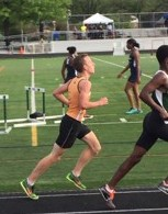 This picture is of Billy Kirk running the 3200 meter race. He finished ninth by a season's best time of 10:02. Courtesy of Yousef Ghanem