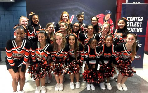 Varsity Cheer Squad Performs at Wizards Game