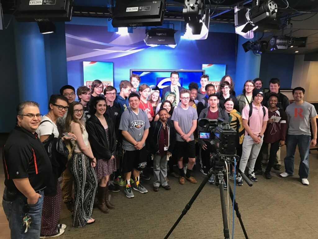 Rockville's TV Production class takes a trip behind the scenes to D.C. last month to visit Channel Seven News, learn the ropes, and even watch the filming of a live broadcast.