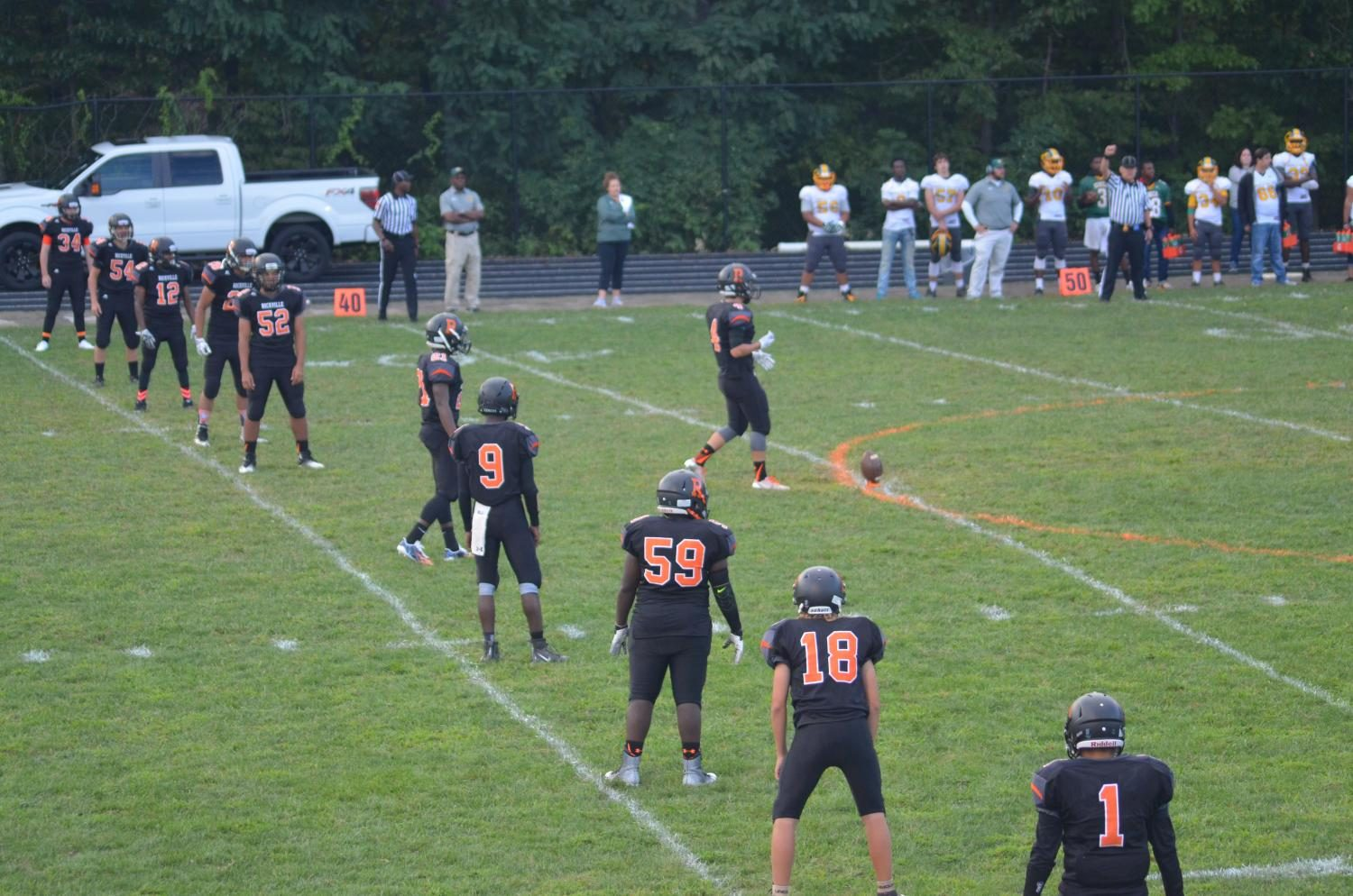 The Rockville Rams opened their season against  the Seneca Valley Screaming Eagles Sept. 1 before school started.