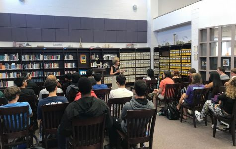 Former Maryland Congresswoman Connie Morella spoke to AP Lang students about her experiences working in Congress and MD politics.