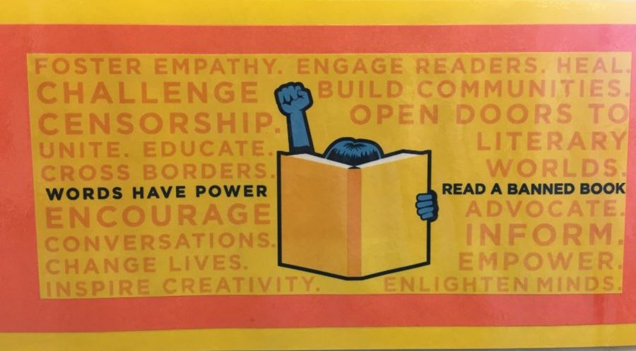 Posters of Banned Book Week created by the American Library Association were given out to English classes to display during Banned Book Week Sept. 24-30.