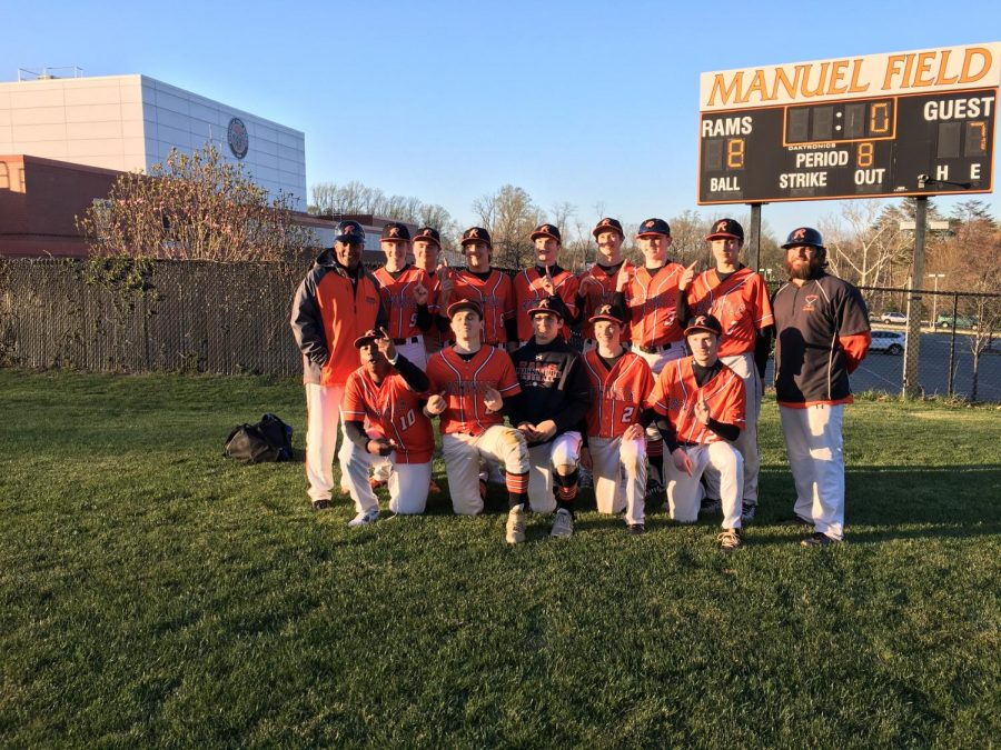 Rams defeated the Falcons in extra innings to secure the first division title of Coach Farron Riggs' RHS career.