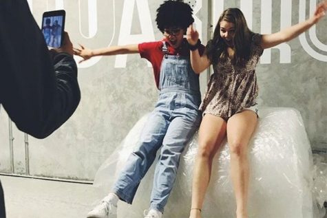 """Alzouma and her cast mate celebrate being on the Nickelodeon show, """"I am Frankie"""" with a picture. Alzouma moved to Miami, Fla. in March with her mother to film the second season"""