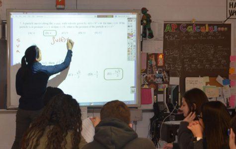 RHS' staff-chosen 2018 Teacher of the Year Carmen Tong teaches her AP Calculus AB class. She will be leaving RHS to teach in Hong Kong starting next year.