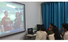 Pollution, Climate Change Discussed in Skype Call with Students in India