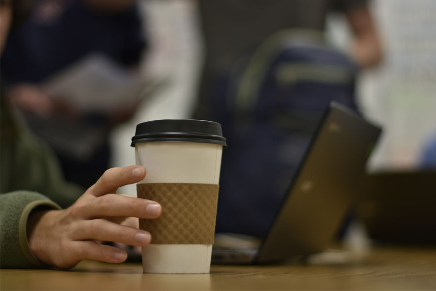 By drinking a cup of coffee in the morning, students said they hope to make up for a lack of sleep the previous night and have enough energy to make it through the entire day of school.