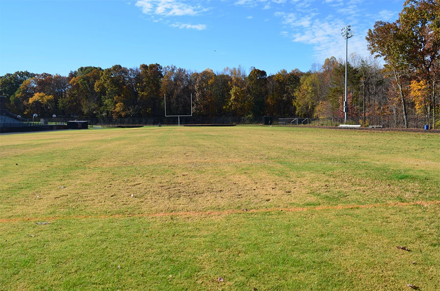 Joseph B. Good stadium was updated with Bermuda grass in the summer of 2018.