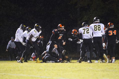 Varsity Football Folds in Second Half Against Rival on Senior Night