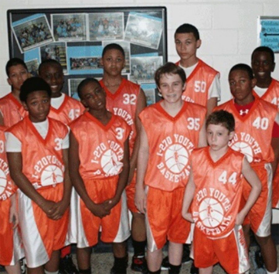 Stevens, far bottom left, and Armwood, second from the left in the top row, played on the I-270 youth basketball team together when growing up.