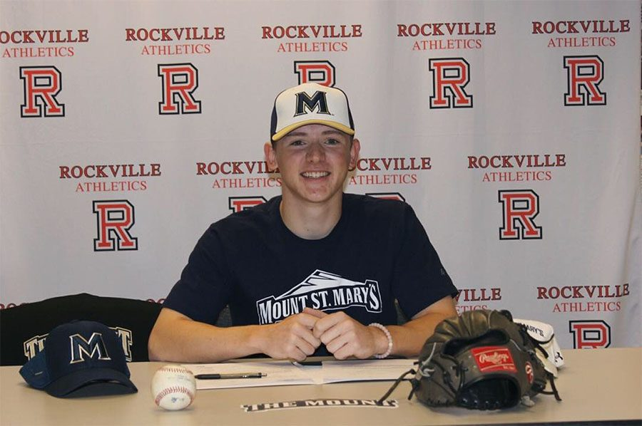 Senior Matt McTighe has been playing baseball since his childhood.  He said he is excited to play for Mount St. Mary's next school year.