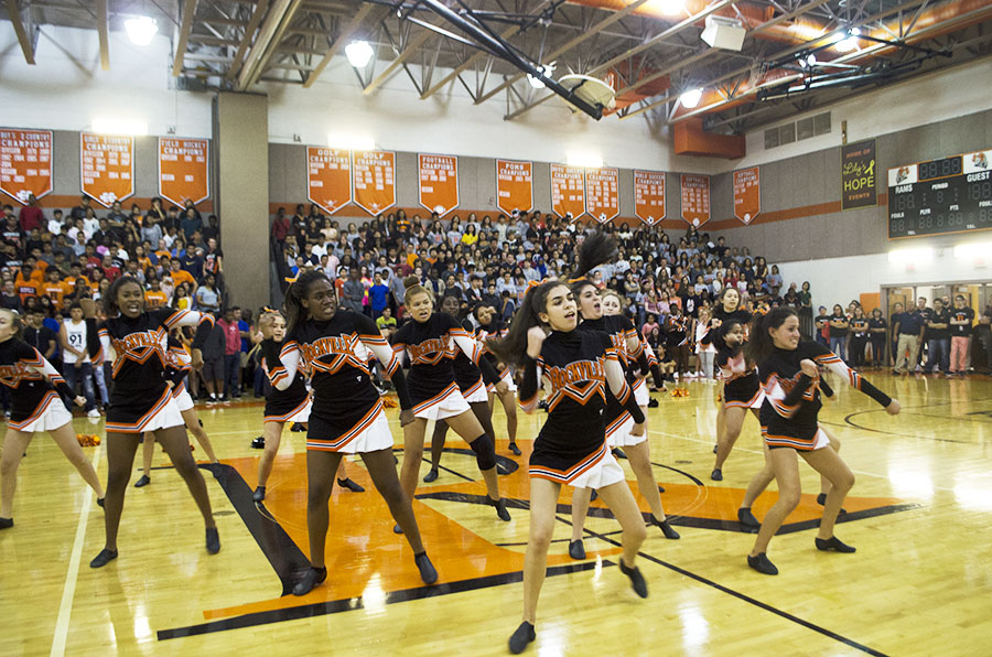 The Poms team performed at three invitationals and then competed at the county competition.