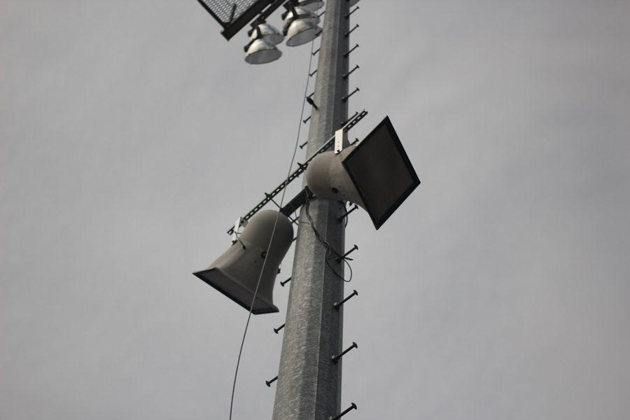 The athletics department installed new speakers in Joseph B. Good stadium April 18, costing around $10,000.