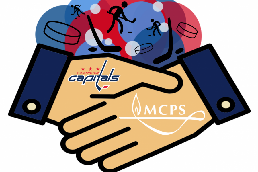 Capitals Donate Hockey Gear to MCPS