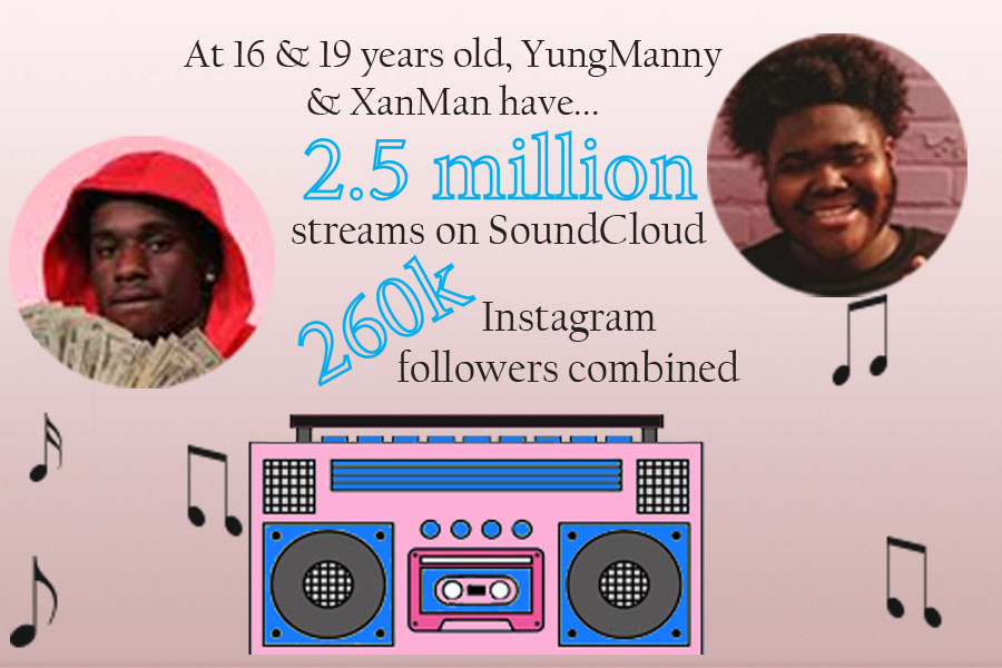 Local musicians YungManny and XanMan are making big names for themselves at young ages as they continue to release new music and gain large followings.