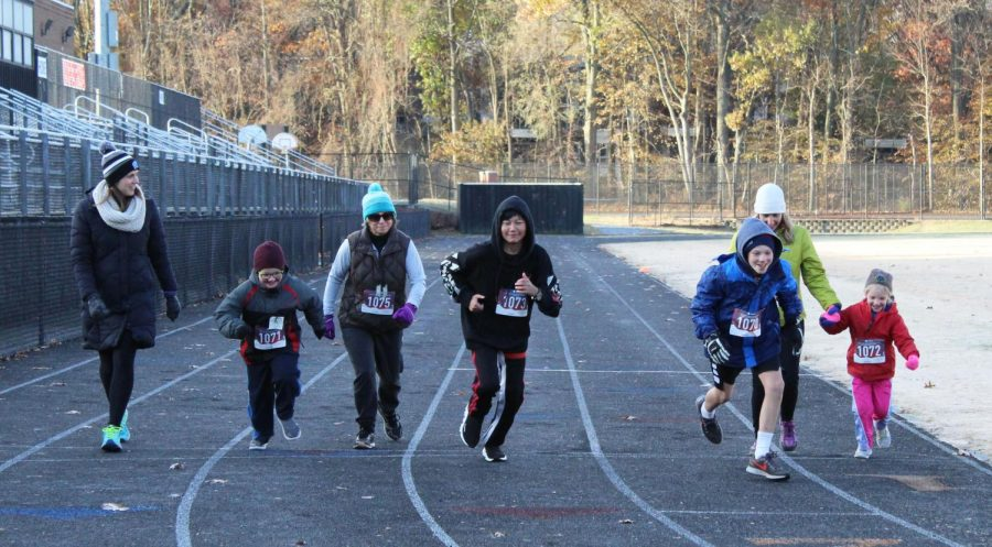 The+Rampace+began+on+the+RHS+track+and+the+course+continued+down+Baltimore+Road.+Many+children+participated+in+the+Fun+Run.+