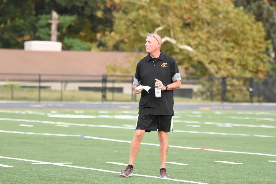 Using his 26 years of soccer and coaching experience, the new girls varsity soccer coach Neil Gottlieb coached the team to a regional championship this year.