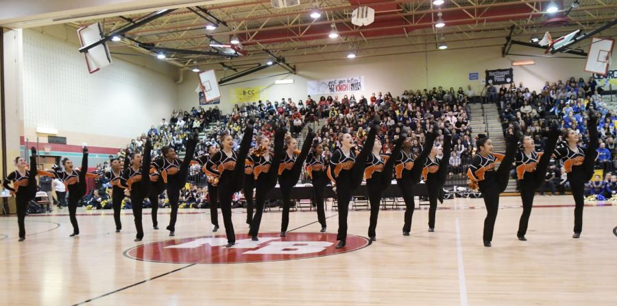 In the annual county competition Feb. 1, the poms took home the first place trophy. The team performed at other athletic events during  the school year to prepare for their competition season, earning them two first place prizes, one second place and one last place prize.