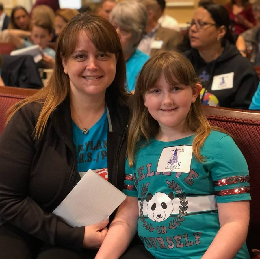 Jennifer Lomax testified against the House Bill 447 and her daughter Bella Lomax delivered a speech advocating for the Senate Bill 475 Feb. 26.